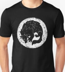 Woodcut Werewolf - White Moon T-Shirt