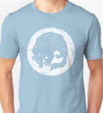 Woodcut Werewolf - White Moon T-Shirt