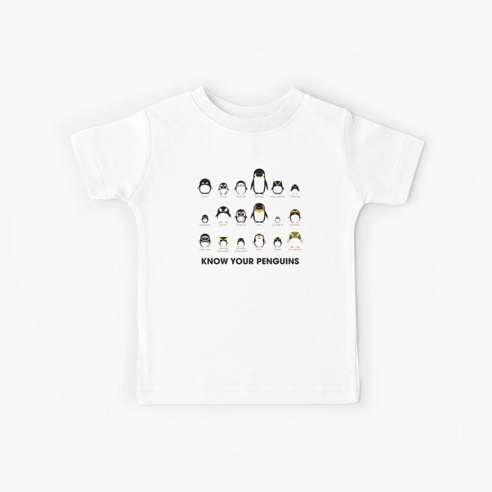 Conoce a tus pingüinos Camiseta para niños