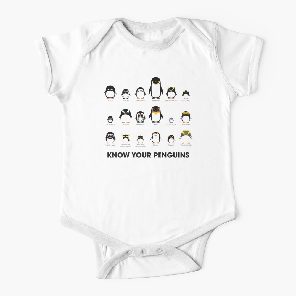 Know Your Penguins Baby One-Piece
