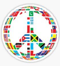 World Peace Love Sticker