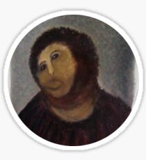 Ecce Homo, Spanish Fresco Restoration Botch Sticker