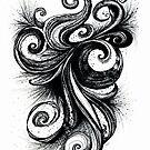 Circumvolution, Ink Drawing by Danielle Scott
