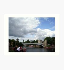 River Ouse Bridge in York. Art Print