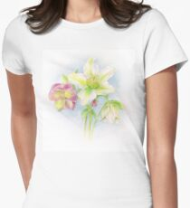 First signs of spring hellebores watercolor T-Shirt