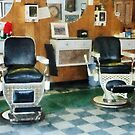 Corner Barber Shop Two Chairs by Susan Savad
