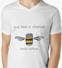 Give bees a chance! Men's V-Neck T-Shirt