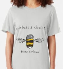 Give bees a chance! Slim Fit T-Shirt