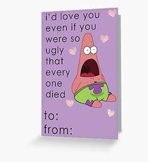patrick spongebob valentine card funny greeting card - Spongebob Valentine Cards