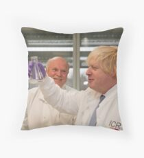 Boris Johnson with chief scientist Tony Ford Throw Pillow