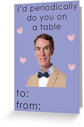 Schön Bill Nye The Science Guy Valentine Card By Auroraboutique
