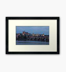 Prague Castle and Vltava River Framed Print