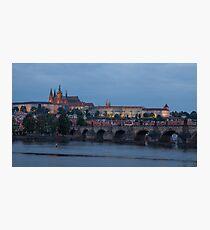 Prague Castle and Vltava River Photographic Print