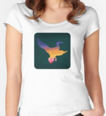 Sunset Duck Hunt Women's Fitted Scoop T-Shirt