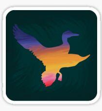 Sunset Duck Hunt Sticker