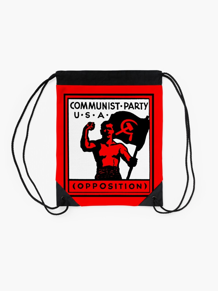 Alternate view of Communist Party USA Drawstring Bag