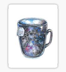 Aquarius Galaxy Constellation Mug Sticker