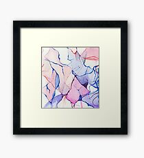 watercolor ink Framed Print