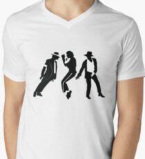 Camiseta para hombre de cuello en v Michael Jackson
