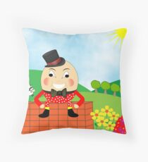 Cute Humpty Dumpty Kids Nursery Rhyme Theme Throw Pillow