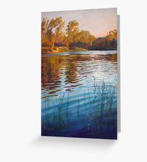 'Evening Reflections' - Goulburn River Greeting Card