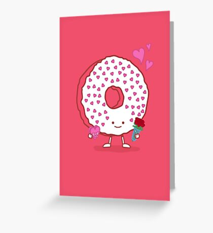 The Donut Valentine Greeting Card