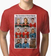 The Evolution of Brent Burns Tri-blend T-Shirt