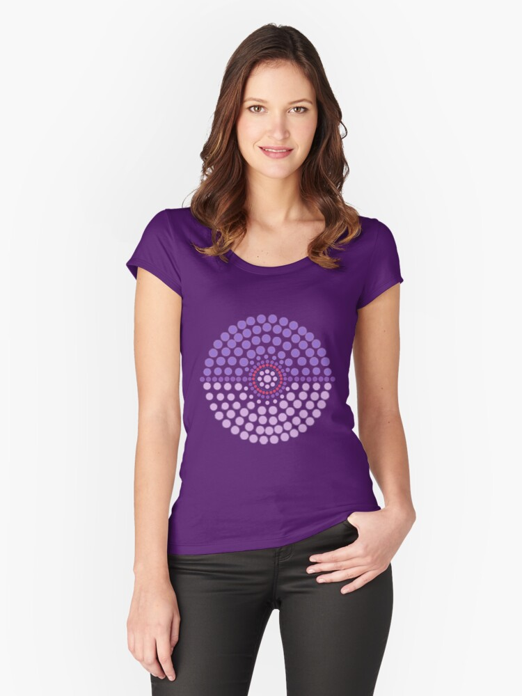 Espeon Pokeball Women's Fitted Scoop T-Shirt Front