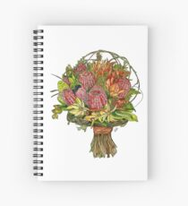Bottle Brush & Orchids Spiral Notebook