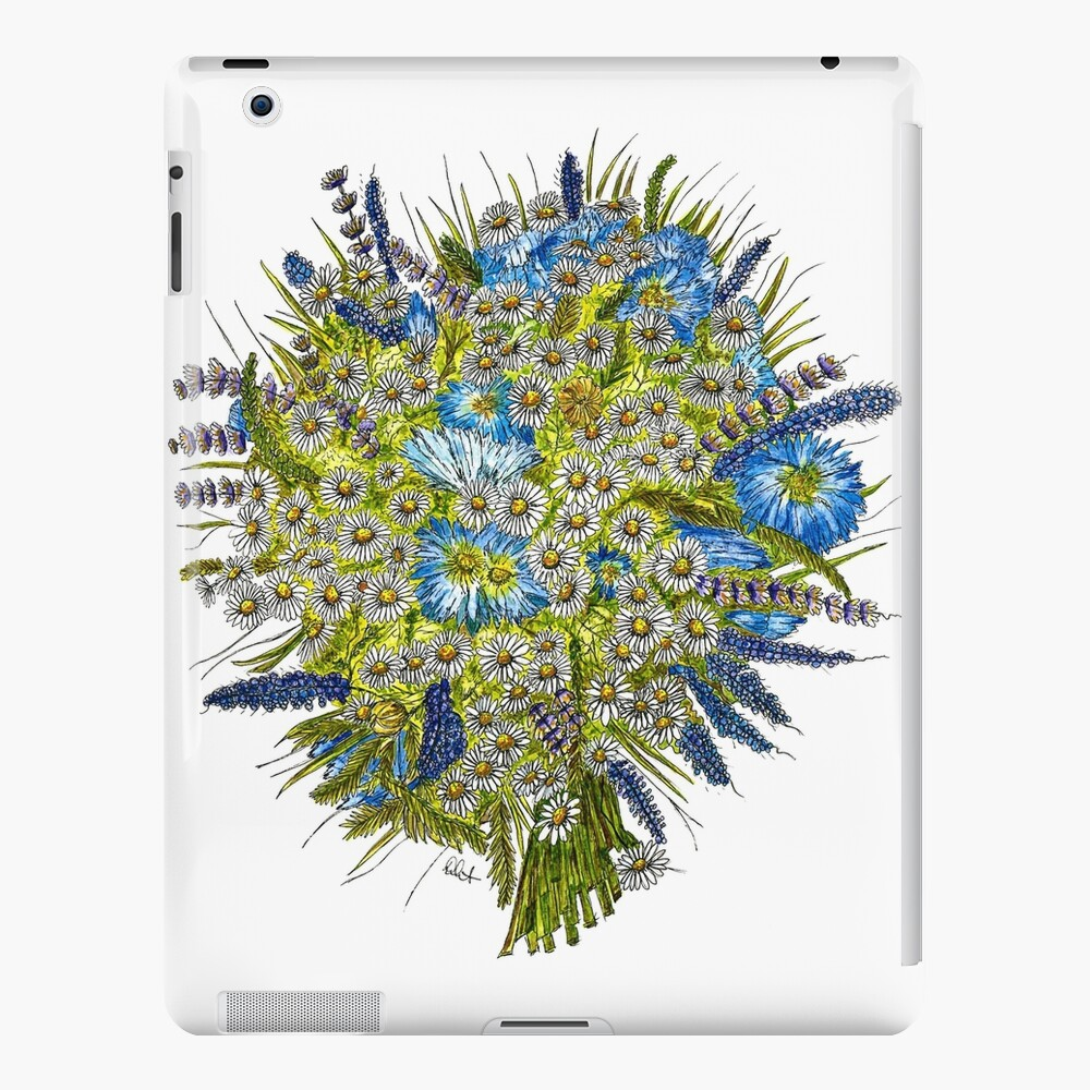 Daisies and Corn Flowers iPad Case & Skin