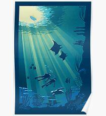 Tiefes Blau Poster