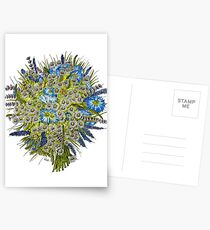 Daisies and Corn Flowers Postcards