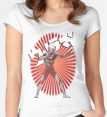 UltraMan Japanese Fun Time Women's Fitted Scoop T-Shirt