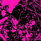 Abstract Pink and Black by June Holbrook