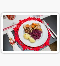 Decorated Christmas plate and table setting  Sticker