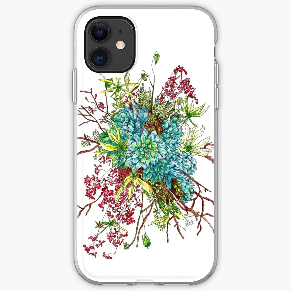 Succulents & Orchids iPhone Case & Cover