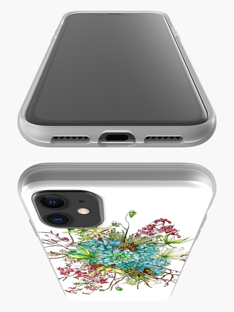 Alternate view of Succulents & Orchids iPhone Case & Cover