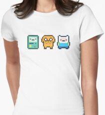 8-bit Jake Finn & Beemo Womens Fitted T-Shirt