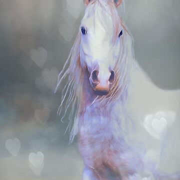 White Horse And Hearts by bhymer