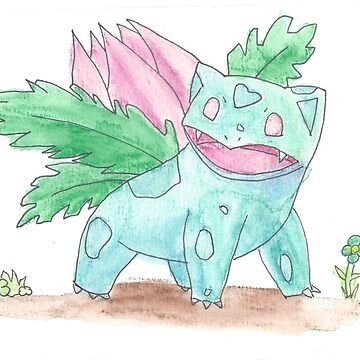 Ivysaur Watercolour by Nessabee