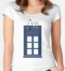 Snoopy / Dr. Who Women's Fitted Scoop T-Shirt