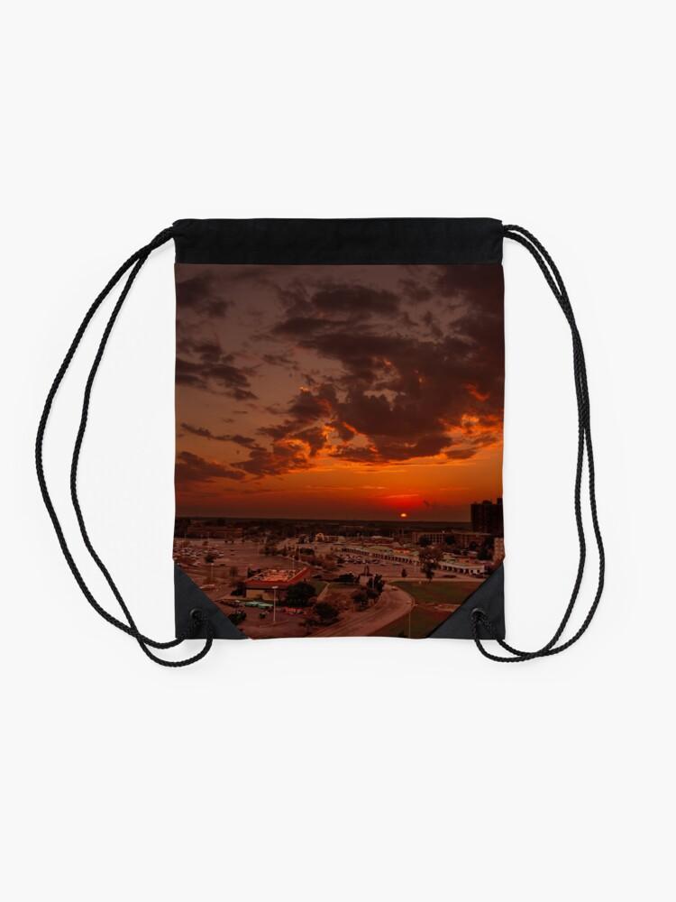 Alternate view of Urban Sunset Drawstring Bag