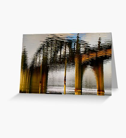 Reflecting the Bridge Greeting Card