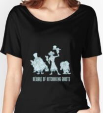 Haunted Mansion Beware of Hitchhiking Ghosts Women's Relaxed Fit T-Shirt
