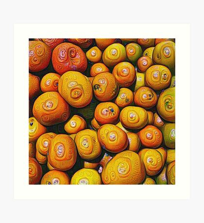 #DeepDream Fruits 5x5K v1454417933 Art Print