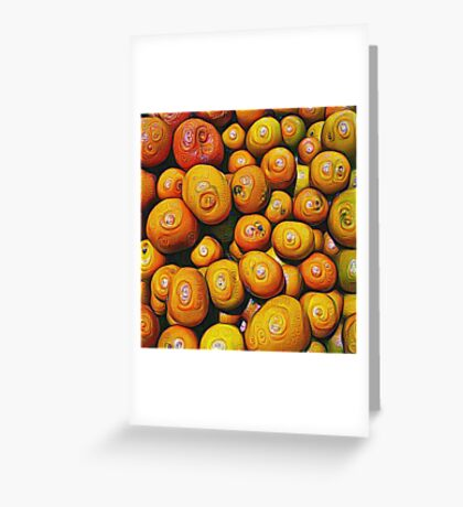 #DeepDream Fruits 5x5K v1454417933 Greeting Card
