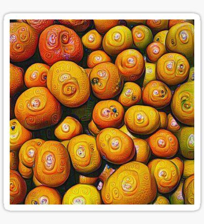 #DeepDream Fruits 5x5K v1454417933 Sticker