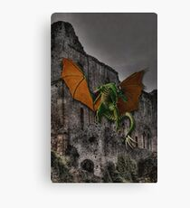 Dragon & Castle Fantasy Artwork Canvas Print