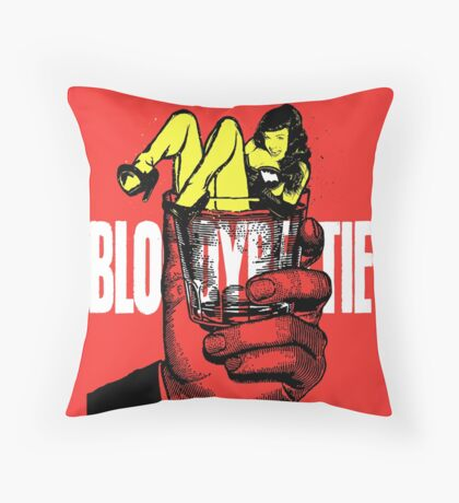 Bloody Bettie (On The Rockers) Throw Pillow