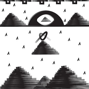 'Pyramids' design by LUCILLE by LUCILLEART
